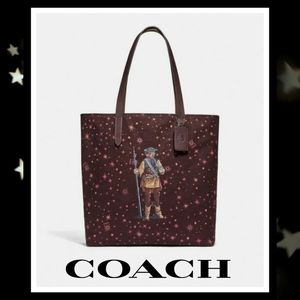 NEW COACH Leia Starry Print STAR WARS Tote